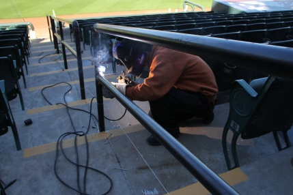 welding the railings
